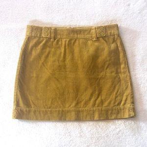 Ann Taylor / Loft Corduroy Mustard Skirt Sz 10